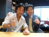 TBSラジオ『大沢悠里のゆうゆうワイド』に生出演した片岡愛之助(左)