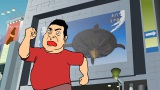 『鷹の爪GO〜美しきエリエール消臭プラス〜』(9月13日公開)出川哲朗のカメオ出演シーン(C)鷹の爪GO製作委員会