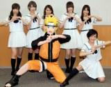 乃木坂46(前段)生駒里奈、(後段左から)西野七瀬、橋本奈々未、桜井玲香、松村沙友理、若月佑美