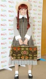 赤毛のアンの衣装で登場した高橋 (C)ORICON NewS inc.