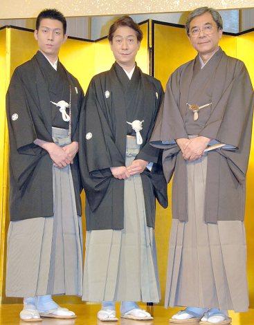 (左から)中村児太郎、中村福助、中村梅玉 (C)ORICON NewS inc.