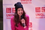 21日〜23日、東京・表参道で開催されたユニクロのファッションイベント『UNIQLO FASHION FES』に登場した 竹下玲奈