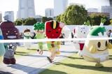 『第1回ゆるキャラ グルメフェスティバル in YOKOHAMA』のプレイベントに集まったゆるキャラたち