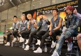 9日に日本デビューしたばかりのB.A.Pが東京・マルイシティ渋谷店前でトークショーを行った