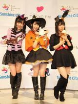 『暗黙の了解』の収録に参加したSKE48メンバー。左から須田亜香里、高柳明音、松村香織(C)De-View