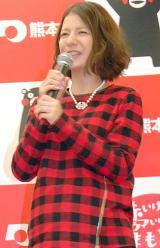 お腹ふっくら…妊娠9ヶ月のスザンヌ=熊本県首都圏広報事業記者会見 (C)ORICON NewS inc.