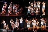 AKB48グループの各劇場で前座出演したドラフト候補たち。AKB48劇場(左上)、SKE48劇場(右上)、NMB48劇場(左下)、HKT48劇場(右下)(C)AKS