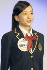 1巡目最多3チームから指名を受けた須藤凛々花さん 交渉権はNMB48のチームNに(撮影:鈴木かずなり)
