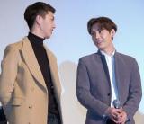 映画『新大久保物語』初日舞台あいさつに出席した(左から)MYNAMEのジュンQ、コヌ (C)ORICON NewS inc.
