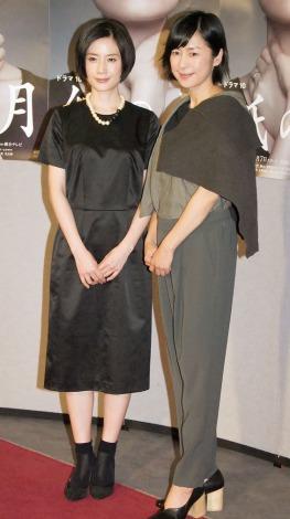 NHKドラマ『紙の月』の記者会見に出席した(左から)原田知世、西田尚美 (C)ORICON NewS inc.