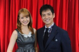 『第46回日本有線大賞』のMCを担当する沢村一樹(右)、トリンドル玲奈(左)(C)TBS