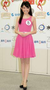 モデル業もしていたという坂口さん=『第46回2014年度 ミス日本グランプリ決定コンテスト』開催告知発表会 (C)ORICON NewS inc.