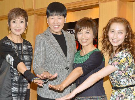 東日本復興支援チャリティーコンサート『Song For You 2013』の取材会に出席した(左から)今陽子、和田アキ子、榊原郁恵、はいだしょうこ (C)ORICON NewS inc.