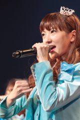 来年2月に卒業することを発表したSUPER☆GiRLSのリーダー八坂沙織