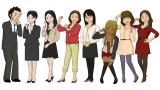 桃屋と脱力系CGアニメ「Peeping Life」のコラボレーション作品『ご縁ですよ!』の続編に登場する主人公・白飯くん(左)と彼を翻弄する女性たち