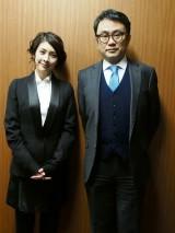 12月29日、WOWOWで放送『三谷幸喜 「大空港2013」』主演の竹内結子(左)、脚本・監督の三谷幸喜(右) (C)ORICON NewS inc.