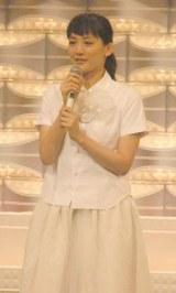 涙を流しながら東日本大震災復興支援ソング「花は咲く」を歌唱した綾瀬はるか (C)ORICON NewS inc.