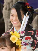『2014年飛躍祈願 晴れ着初詣』に出席したE-girls・須田アンナ (C)ORICON NewS inc.