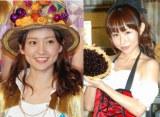 第1子妊娠を発表した大堀恵(右)を祝福した大島優子(左) (C)ORICON NewS inc.