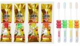 大人用のミニ歯ブラシ『デンタルプロHARIBOハブラシ』税抜270円 全4色(レッド、イエロー、オレンジ、グリーン)
