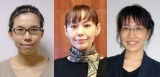 『第150回芥川賞・直木賞』が発表 (左から)芥川賞を受賞した小山田浩子氏、直木賞を受賞した朝井まかて氏、姫野カオルコ氏