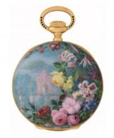 『パテック フィリップ展〜歴史の中のタイムピース〜』で展示している、ジュネーブ芸術協会がキュリー夫人に贈ったペンダント・ウォッチ(1894年)