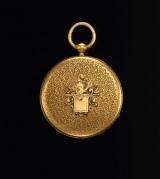 『パテック フィリップ展〜歴史の中のタイムピース〜』で展示している、トルストイの懐中時計(1853年)