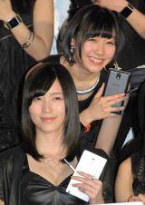 SKE48スペシャルユニット『GALAXY of DREAMS』活動開始記者発表に出席した(左から)松井珠理奈、須田亜香里 (C)ORICON NewS inc.