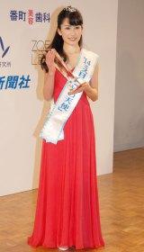 「ミス日本 水の天使」に選出された神田れいみさん=『第46回2014年度ミス日本グランプリ決定コンテスト』 (C)ORICON NewS inc.