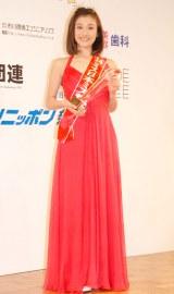 「ミス日本ミス着物」に選出された尾崎優子さん=『第46回2014年度ミス日本グランプリ決定コンテスト』 (C)ORICON NewS inc.