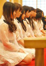 増上寺でヒット祈願を行ったモーニング娘。'14 (C)ORICON NewS inc.