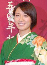2月2日の誕生日に披露宴を行ったことを報告した浅尾美和 (C)ORICON NewS inc.