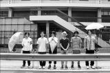 3月31日のライブをもって解散するソノダバンド(左から園田涼、牧瀬崇之、橋本怜、熱田哲、赤股賢二郎、小山田和正)