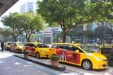 台北市内は福山のラッピングタクシー300台が走行