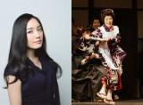 仲間由紀恵(左)主演で森光子さんの半生をドラマ化。右は2009年5月、『放浪記』最後の公演の森さん