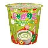 じゃがりこ初のスイート系「抹茶クリーム」味が登場!