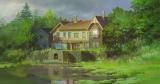 """スタジオジブリ最新作『思い出のマーニー』の重要な舞台となる海辺の村の誰も住んでいない""""湿っ地屋敷""""(C)2014 GNDHDDTK"""