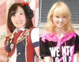 E-girls・Ami(右)の物まねで話題のキンタロー。 (C)ORICON NewS inc.