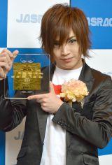 『2014年JASRAC賞』贈呈式に出席したゴールデンボンバーの鬼龍院翔 (C)ORICON NewS inc.