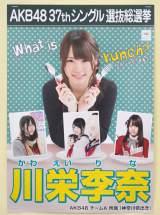 『AKB48選抜総選挙ミュージアム』に展示されている川栄李奈の選挙ポスター (C)ORICON NewS inc.