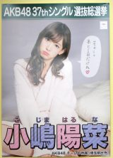『AKB48選抜総選挙ミュージアム』に展示されている小嶋陽菜の選挙ポスター (C)ORICON NewS inc.