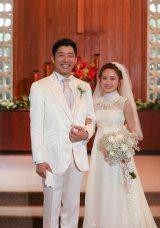 ハワイで挙式したあべこうじ&高橋愛夫妻