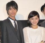 (左から)福士蒼汰、川口春奈=映画『好きっていいなよ。』完成披露試写会 (C)ORICON NewS inc.
