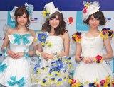 「乃木坂JUNE BRIDEフェスティバル」に出席した(左から)松村沙友理、白石麻衣、橋本奈々未  (C)ORICON NewS inc.