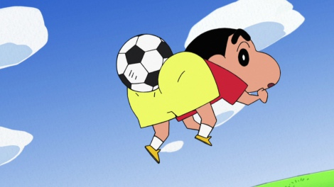 サッカーボールとしんのすけ