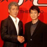 映画『イン・ザ・ヒーロー』キックオフ会見に出席した(左から)吉川晃司、唐沢寿明 (C)ORICON NewS inc.