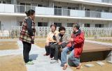 中庭にベンチを設置するなどコミュニティーを重視した宮城県女川町の災害公営住宅