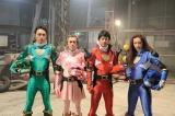 映画『イン・ザ・ヒーロー』に出演する(左から)日向丈、寺島進、唐沢寿明、黒谷友香 (C)2014 Team REAL HERO