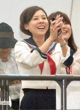カトパン見たさに…セーラー服姿でイベント会場に駆けつけた高橋真麻 (C)ORICON NewS inc.