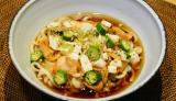 乳酸菌が豊富なキムチとネバネバ野菜の「スタミナ満点!ネバネバ冷やしうどん」